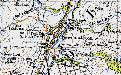 Old map of Yethouse in 1947