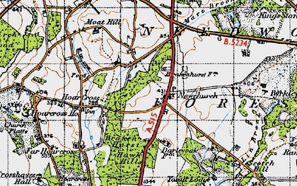 Old map of Yoxall Lodge in 1946