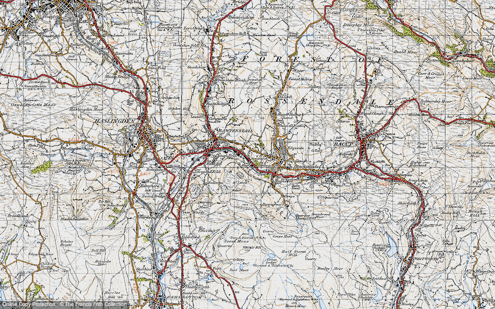 Old Map of Newchurch, 1947 in 1947