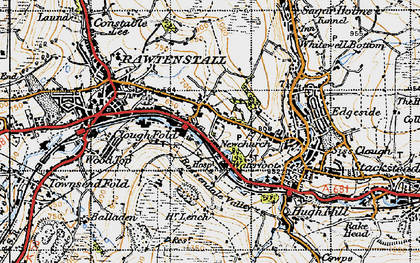 Old map of Newchurch in 1947
