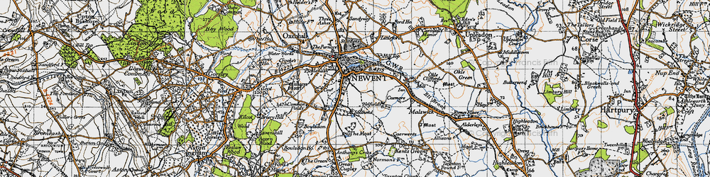 Old map of Newent in 1947