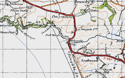 Old map of Newgale in 1946