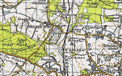 Old map of Newgate Street in 1946