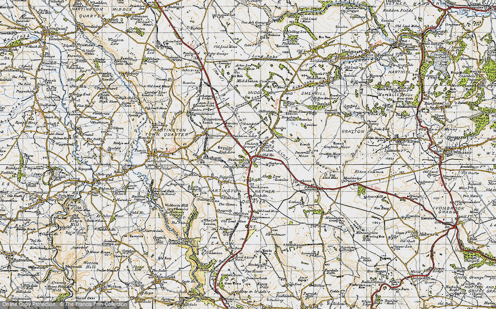 Old Map of Historic Map covering Aleck Low in 1947