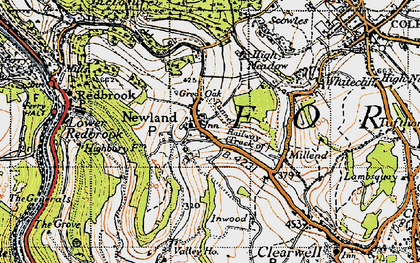 Old map of Newland in 1946