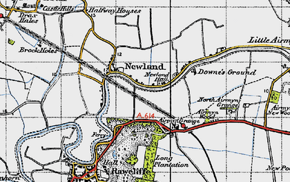 Old map of Airmyn Grange in 1947