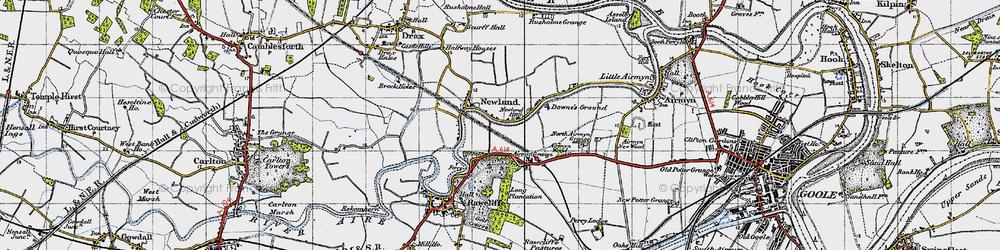 Old map of Airmyn Grange in 1947
