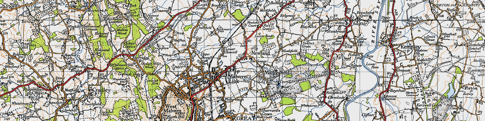 Old map of Newland in 1947