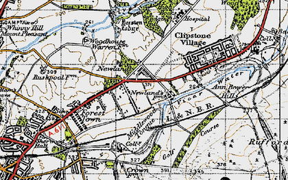 Old map of Badger Hill in 1947