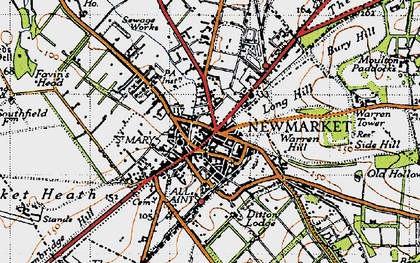 Old map of Limekilns, The in 1946