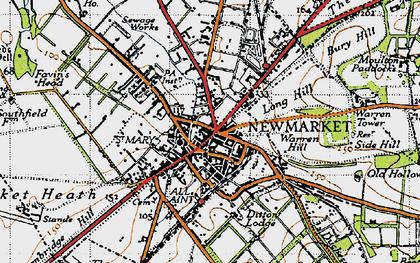 Old map of Balaton Lodge in 1946