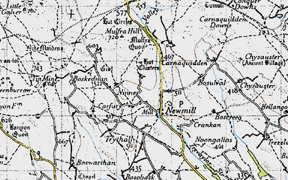 Old map of Newmill in 1946