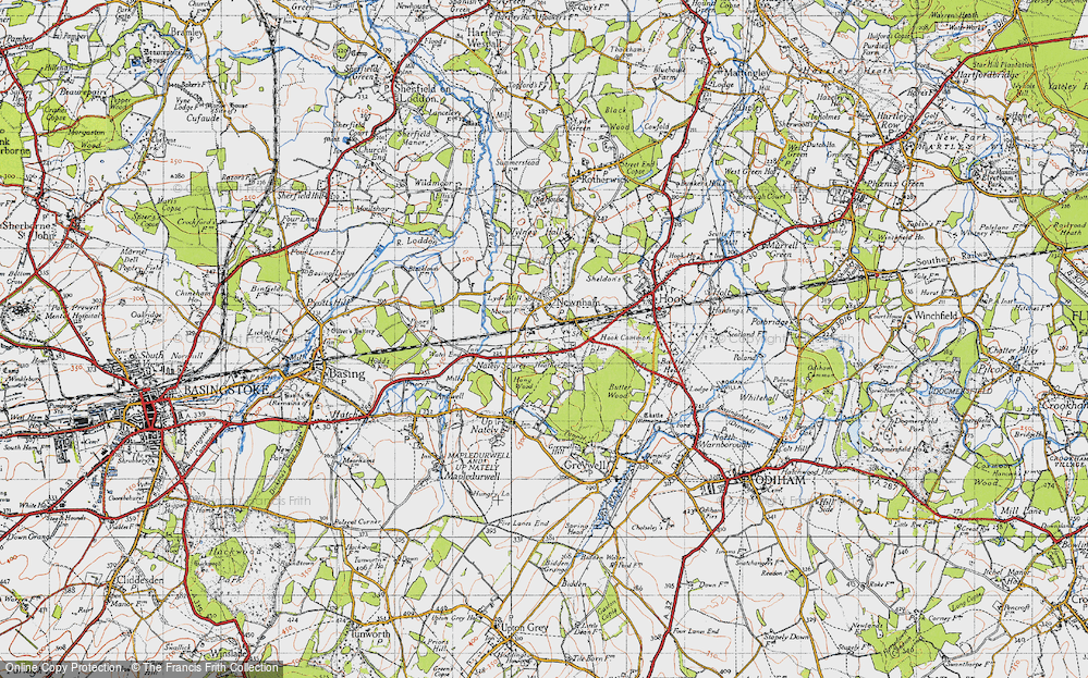 Old Map of Newnham, 1940 in 1940