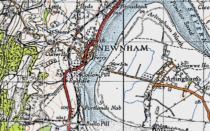 Old map of Newnham in 1946