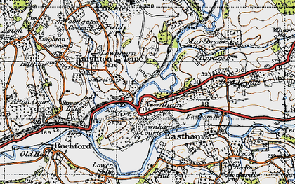 Old map of Newnham Bridge in 1947