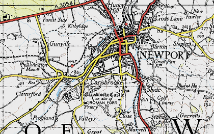 Old map of Newport in 1945