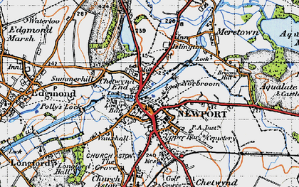 Old map of Newport in 1946