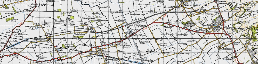 Old map of Newport in 1947