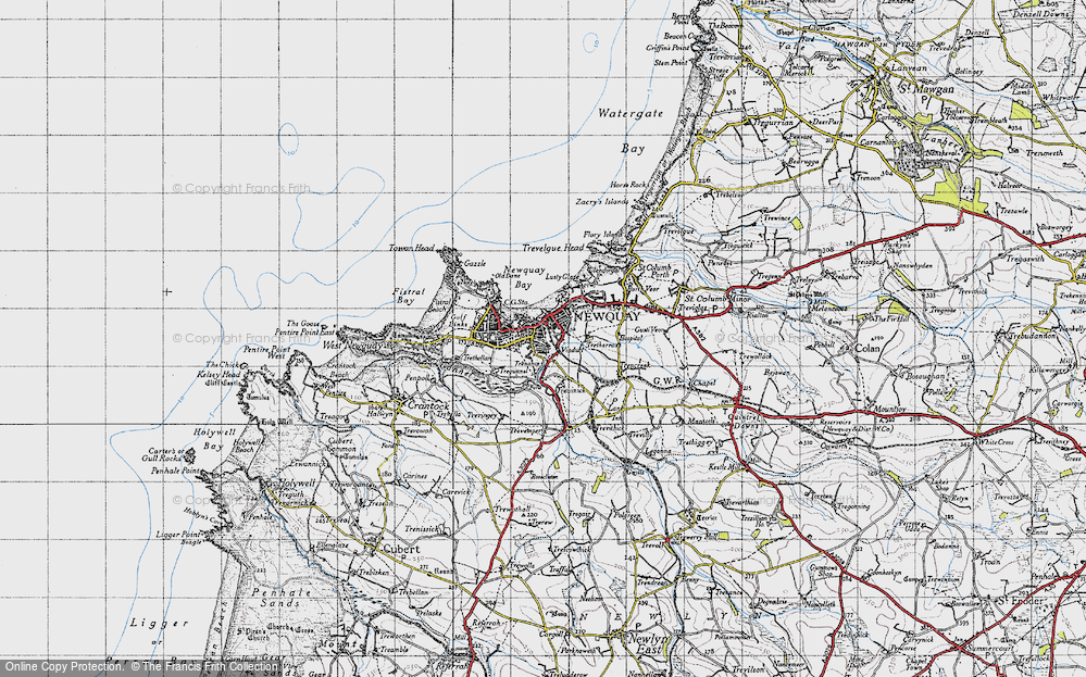 Old Map of Newquay, 1946 in 1946