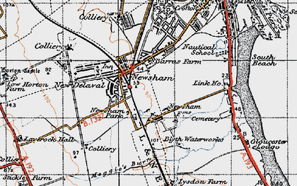 Old map of Link Ho in 1947