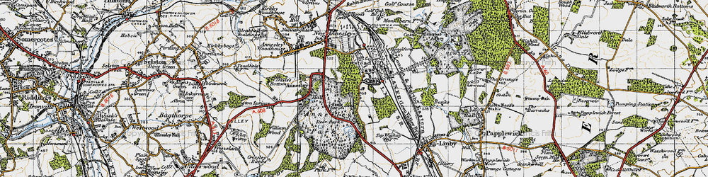 Old map of Annesley Hall in 1946