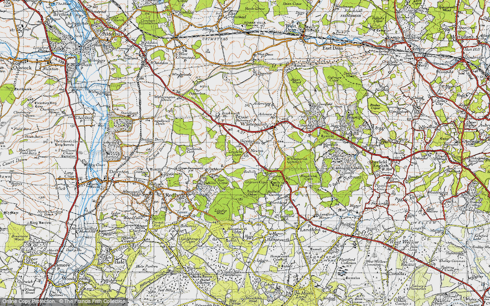 Old Map of Historic Map covering Bagfield Copse in 1940