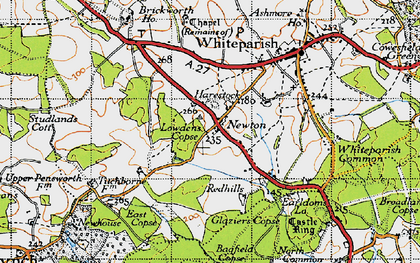 Old map of Bagfield Copse in 1940