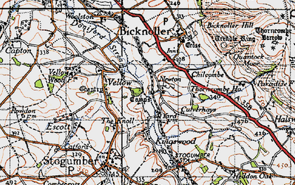Old map of West Somerset Railway in 1946