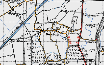 Old map of Newton in 1946