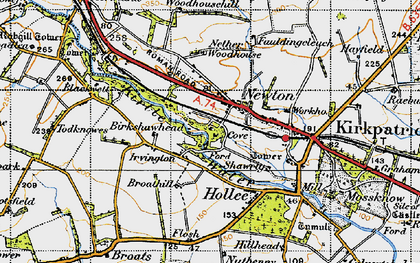 Old map of Woodhousehill in 1947