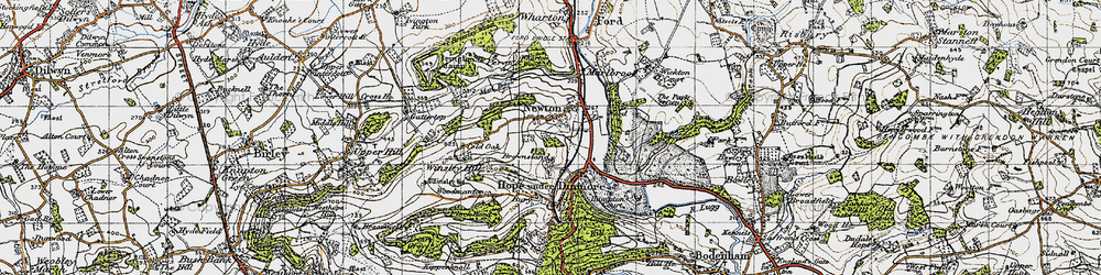 Old map of Wig Wood in 1947