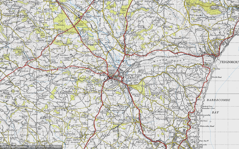 Old Map of Newton Abbot, 1946 in 1946