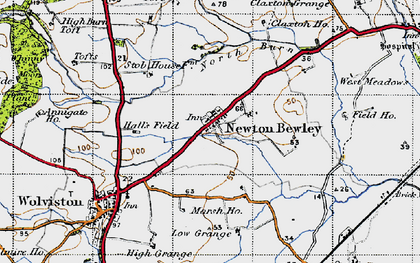 Old map of West Pastures in 1947