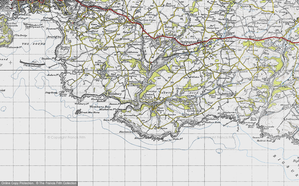 Old Maps of Newton Ferrers - Francis Frith Map Of Newton M on