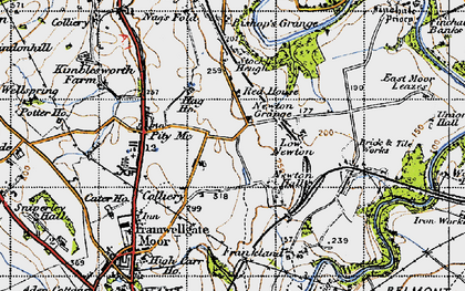 Old map of Woodwell Ho in 1947