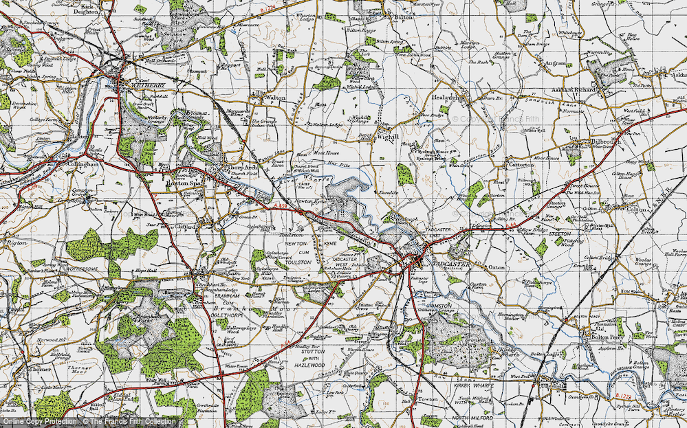 Old Map of Newton Kyme, 1947 in 1947