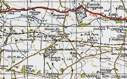 Old map of Aysgarth School in 1947
