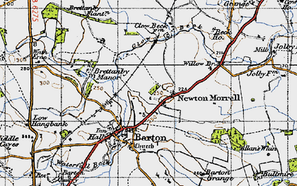 Old map of Willow Br in 1947