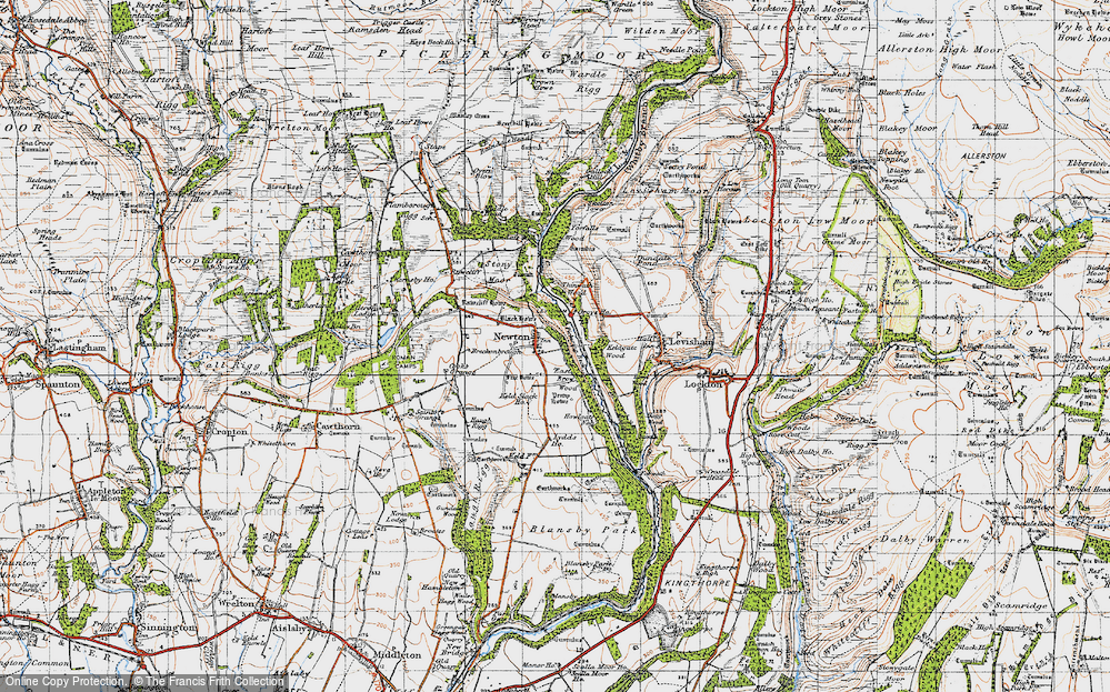 Old Map of Newton-on-Rawcliffe, 1947 in 1947