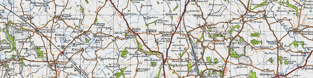 Old map of Witterage, The in 1947