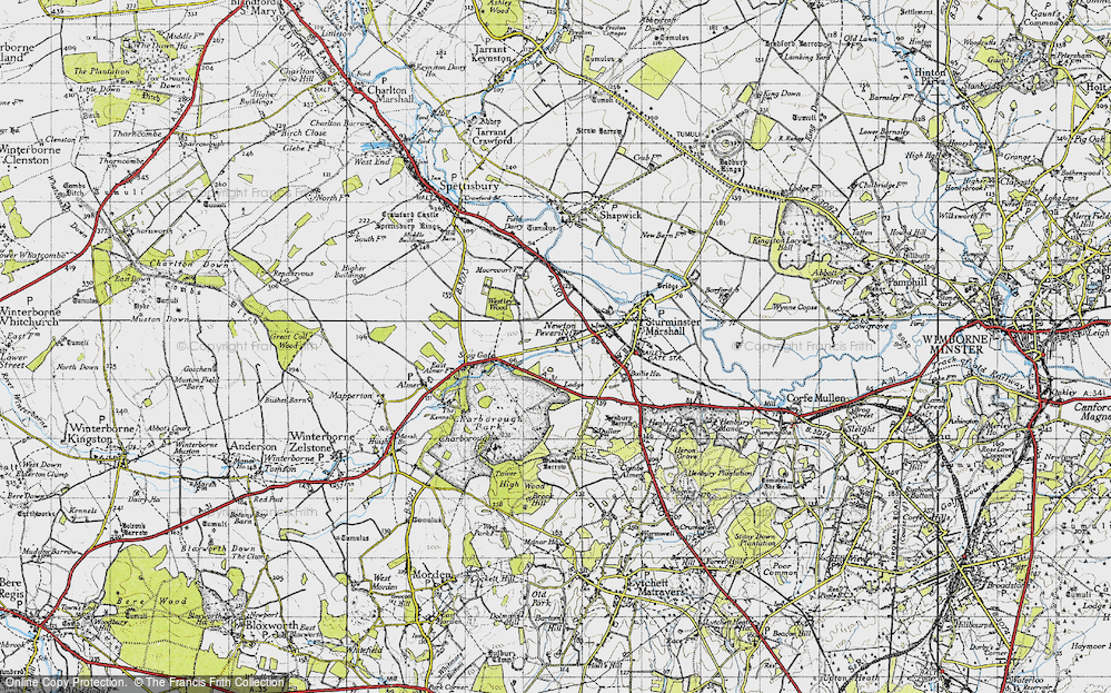 Old Map of Historic Map covering Lion Lodge in 1940
