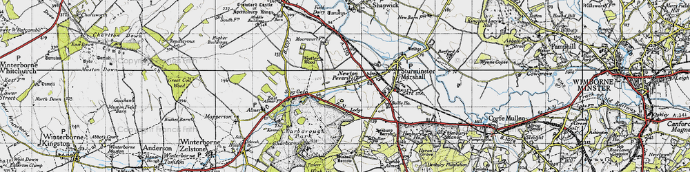 Old map of Lion Lodge in 1940