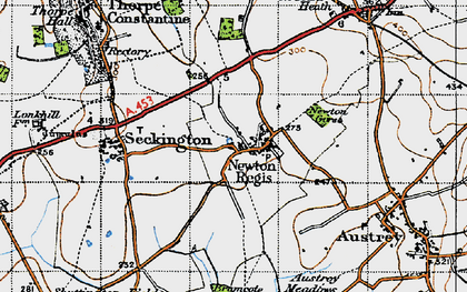 Old map of Newton Gorse in 1946