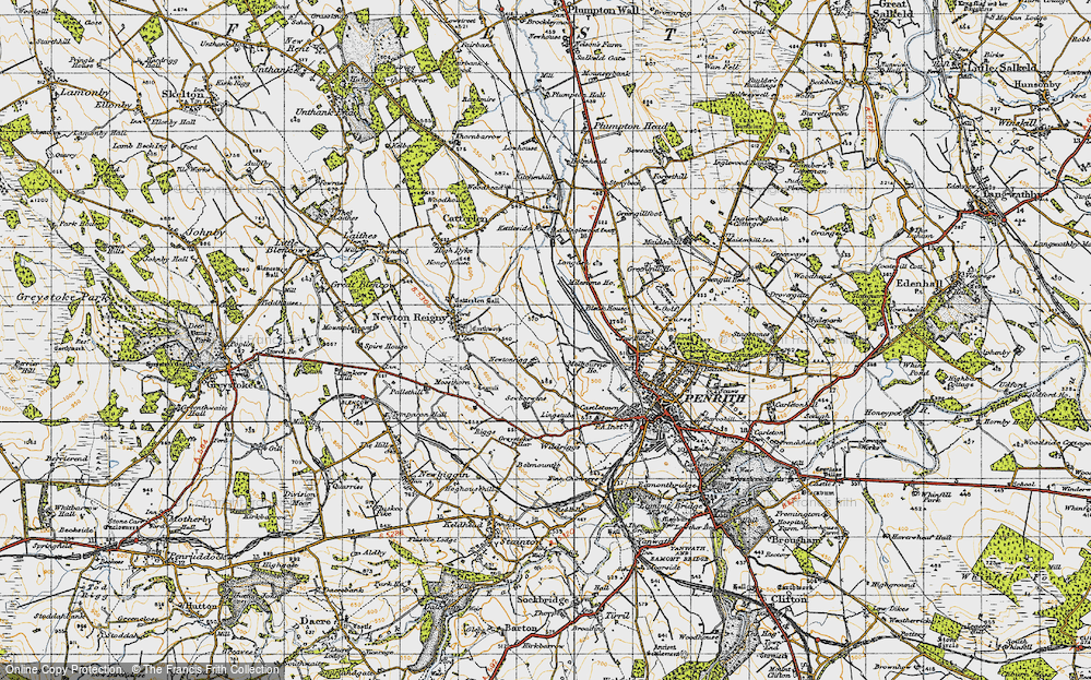 Old Map of Historic Map covering Lingstubbs in 1947