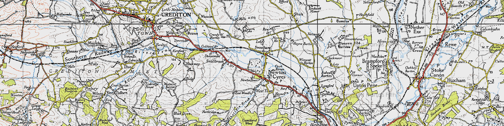 Old map of Wyke in 1946