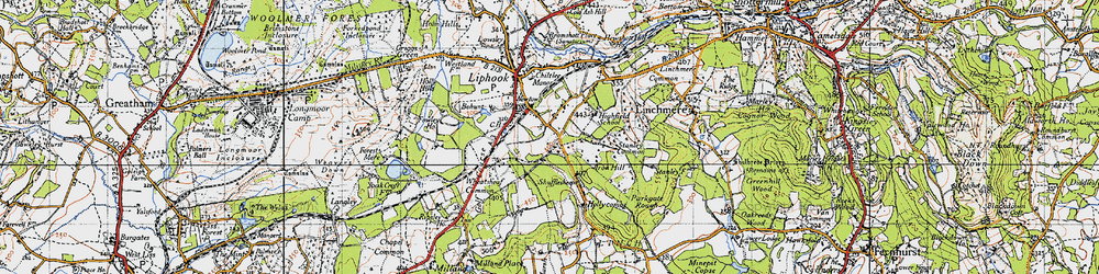 Old map of Wheatsheaf Common in 1940
