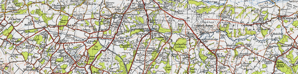 Old map of Adbury Ho in 1945