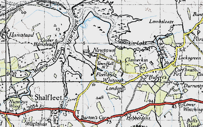 Old map of Newtown in 1945