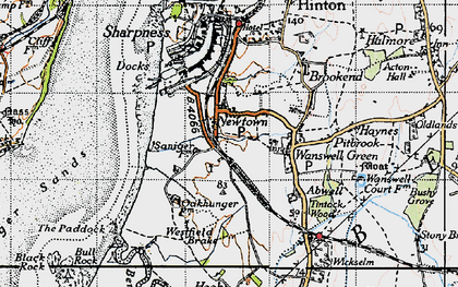 Old map of Westfield Brake in 1946