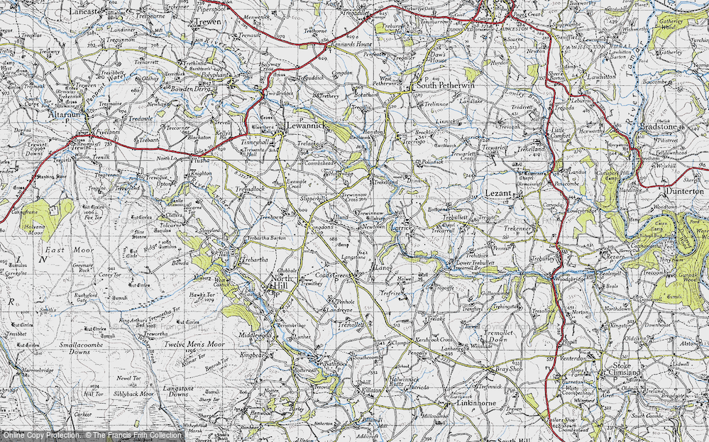 Old Map of Historic Map covering Lanoy in 1946